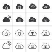 Vector Icons for Cloud Computing — Stockvektor