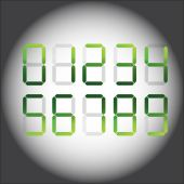 Vector number set — Stock Vector