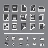 Paper icon — Stock Vector