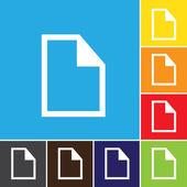 File, paper, icon, vector. — Stock Vector