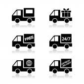 Delivery car, shipping vector — Stock Vector
