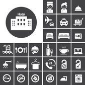 Hotel icon set — Stock Vector