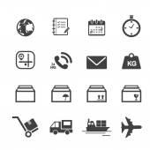 Iconos de transporte y logística — Vector de stock
