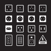 Electric outlet and plug icon — Stock Vector