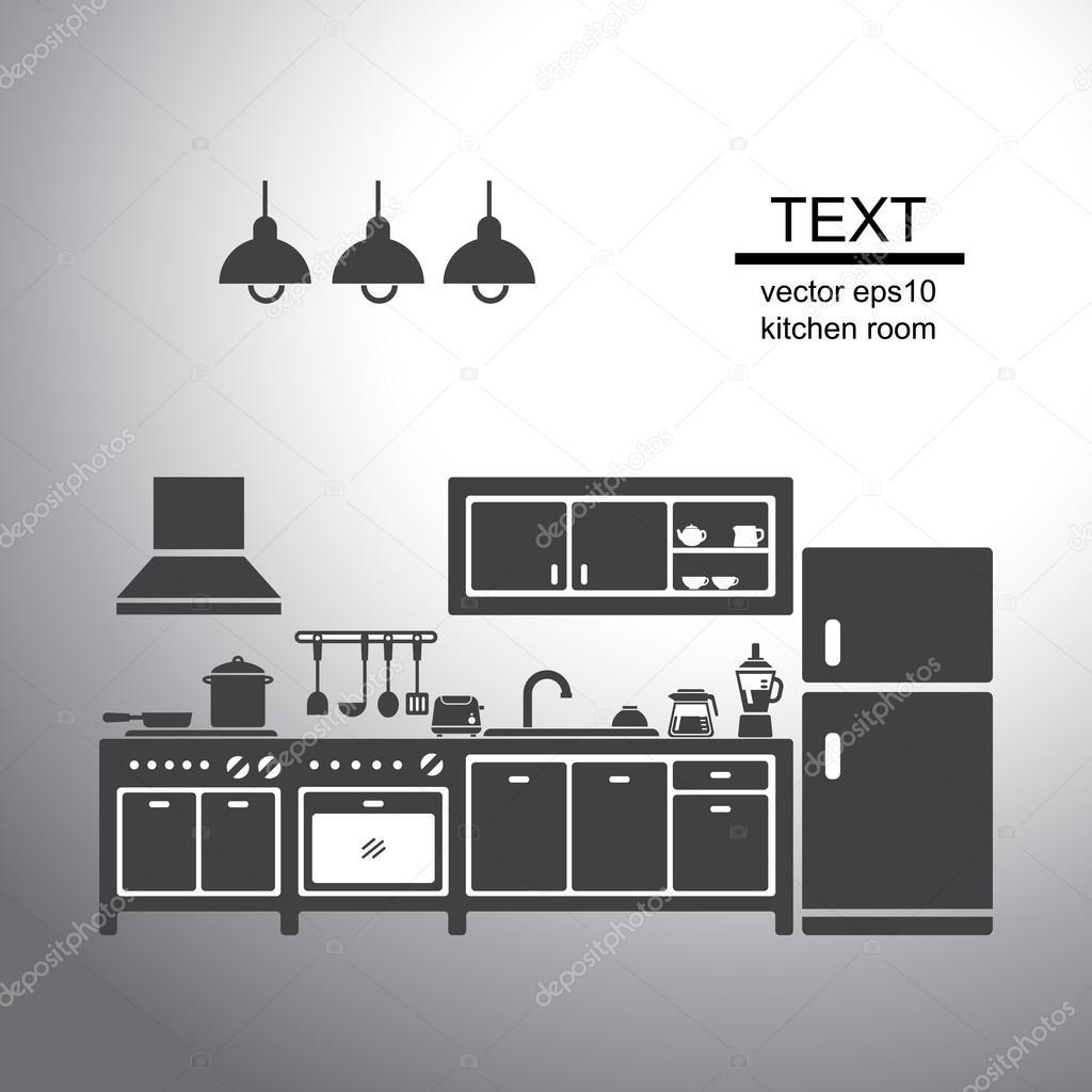 厨房的矢量图 — 图库矢量图像08