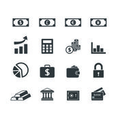 Finance Icons set — Stock Vector