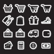 Shopping Icon Set. Simplus series — Stock Vector #59834209