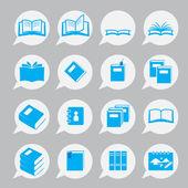 Books icon set — Stock Vector
