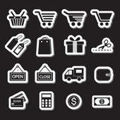 Shopping Icon Set. Simplus series — Stock Vector