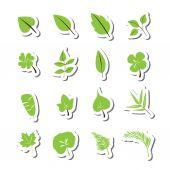 Leaf icon vector set — Stock Vector