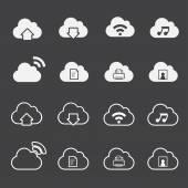 Cloud Computing Icons set — Stock Vector