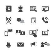 Communication icons set — Stock Vector