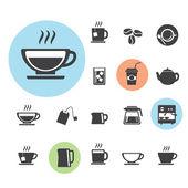 123-2Coffee and Tea  icon set — Stock Vector