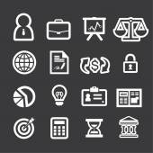 Business finance icons set — Stock Vector