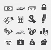 Money icons set — Stock Vector