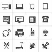 Iconos de dispositivo de comunicación — Vector de stock