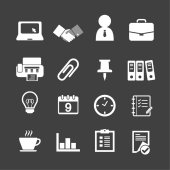Business & office icons — Stock Vector