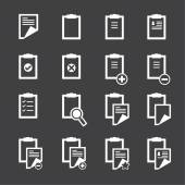 Clipboard icons — Stock Vector