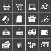 Shopping Icon Set.  — Stock Vector