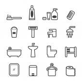 Bath room set — Stock Vector