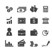 Money, finance, banking icons — Stock Vector