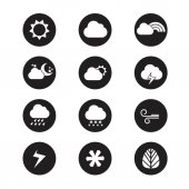 218Flat design style weather icons — Stock Vector