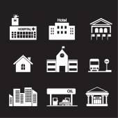 Edifício ícone — Vetor de Stock