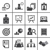Organization and business management icon set — Vector de stock
