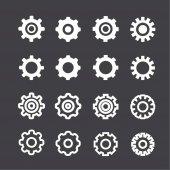 Ayarları Icon set — Stok Vektör