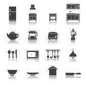 Cucina set di icone — Vettoriale Stock