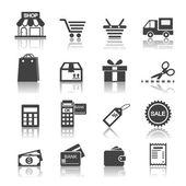 Winkelen pictogram — Stockvector