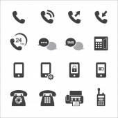Phone icon set — Stock Vector
