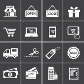 Icône magasinage — Vecteur