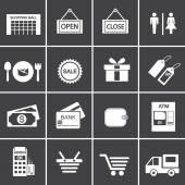 Shopping Ikonuppsättning — Stockvektor