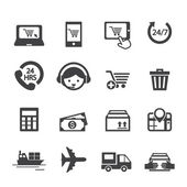 Shopping online icon — Stok Vektör