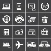 Set di icone dello shopping — Vettoriale Stock