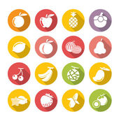 Fruits icon.flat theme. — Stock Vector