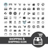 Shopping and shipping icon — Vettoriale Stock
