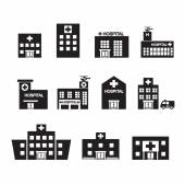 Hospital icon set — Stock Vector