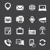 Kommunikation-ikonen — Stockvektor