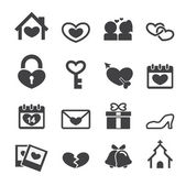 Love icons — Stock Vector