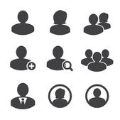 Business persons and user icon — Vector de stock