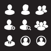 Business persons and user icon — Vettoriale Stock