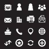 Contact icons — Stock Vector