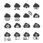 Cloud icon set — Stock Vector