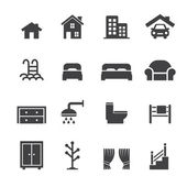 House related icons — Stock Vector