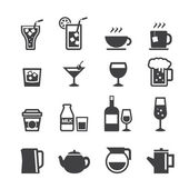 Drink icon set — Stock Vector