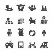 Toy icon set — Stock Vector