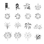 fireworks icon — Stock Vector