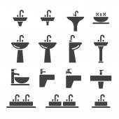 Sink icon set — Stock Vector